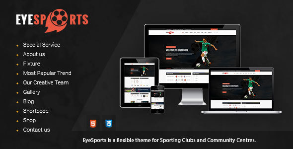 Eye Sports — Fixtures and Sports Html Template