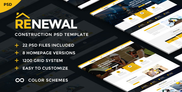 Renewal — Construction & Industrial PSD Template