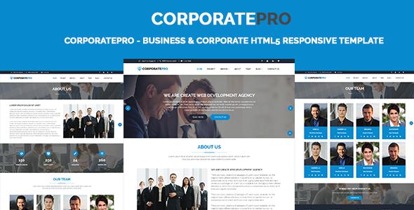 CorporatePro — Business & Corporate HTML5 Responsive Template