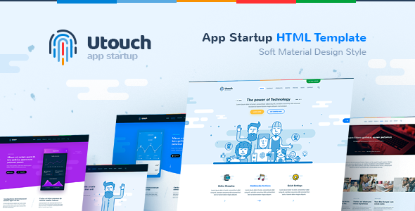 Utouch — HTML Template for IT Startup, Landing Page, Business