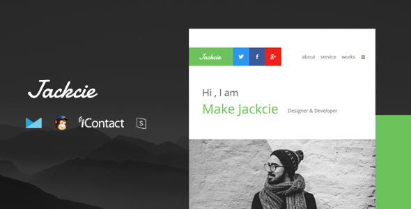 Jackcie Mail — Responsive E-mail Template + Online Access