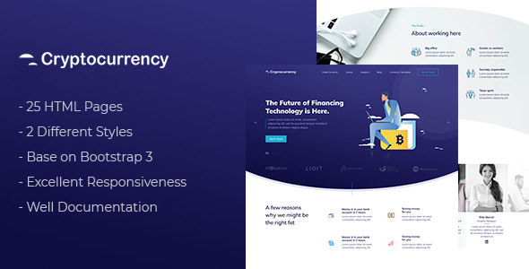 CryptoCurrency — HTML Template
