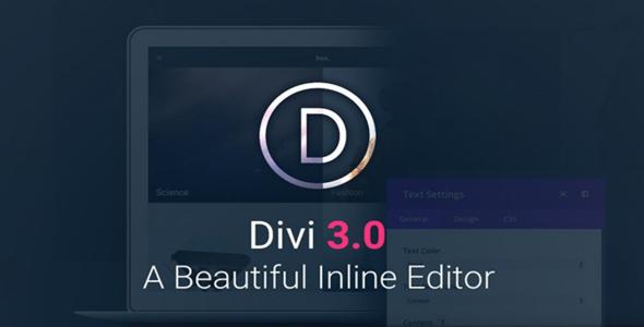 Divi v3.1 — Elegantthemes Premium WordPress Theme