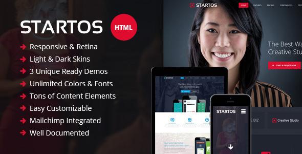 Startos — Responsive HTML5 Landing Page