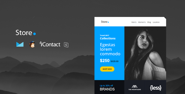 Store Mail — Responsive E-mail Template + Online Access