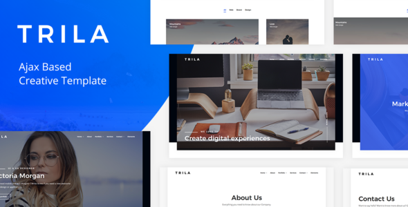 Trila v1.0.2 — Ajax Based Creative Template