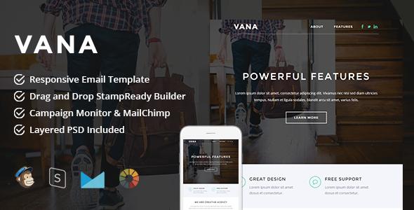 Vana v1.0 — Responsive Email + StampReady Builder