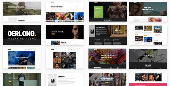 Gerlong v1.1 — Responsive One Page & Multi Page Portfolio Theme