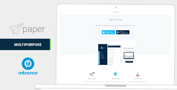 Paper v1.0 — Mulitipurpose Unbounce Landing Pages