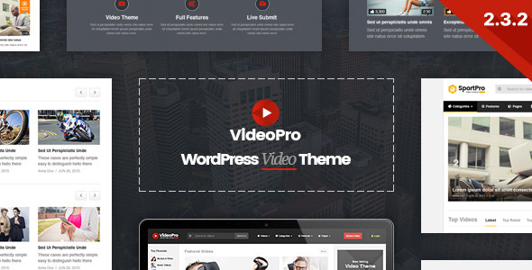 VideoPro v2.3.4.1 — Video WordPress Theme