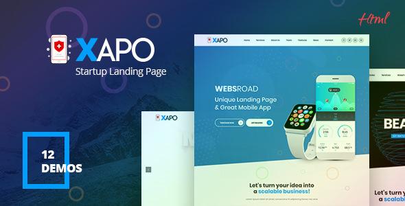 Xapo — Responsive Landing Page Template