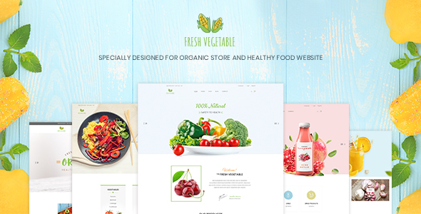 Fresh Vegetable v1.0 — Organic Store & Eco Food Products PSD Template