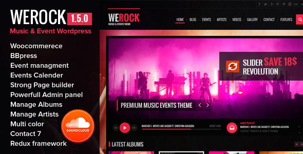 WeRock v1.5.6 — Multipurpose Music & Event WordPress Theme