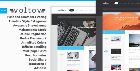 Voltov v1.1 — Blog and Magazine WordPress Theme