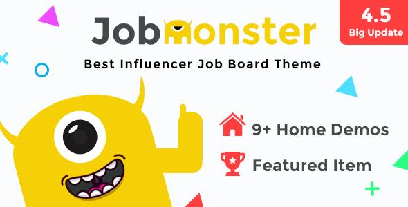 Jobmonster v4.5.1.2 — Job Board WordPress Theme