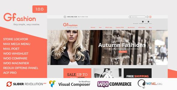 GFashion v1.0.0 — Woocommerce Store
