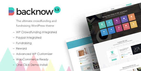 Backnow v1.3 — Crowdfunding and Fundraising Theme