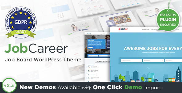 JobCareer v2.3 — Job Board Responsive WordPress Theme