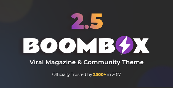 BoomBox v2.5 — Viral Magazine WordPress Theme