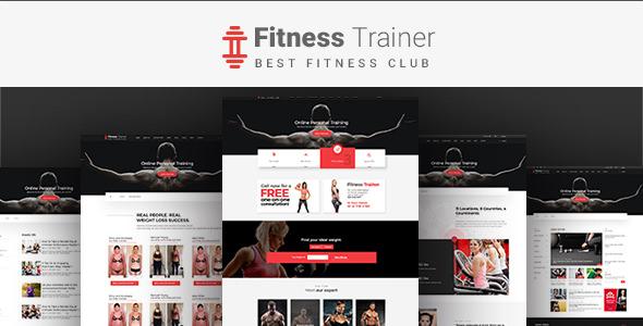 FitnessTrainer — Responsive Bootstrap Template