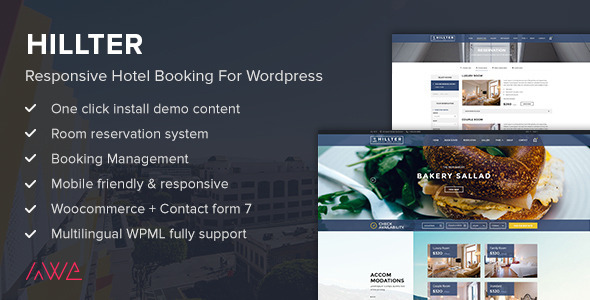 Hillter v2.0.8 — Responsive Hotel Booking for WordPress