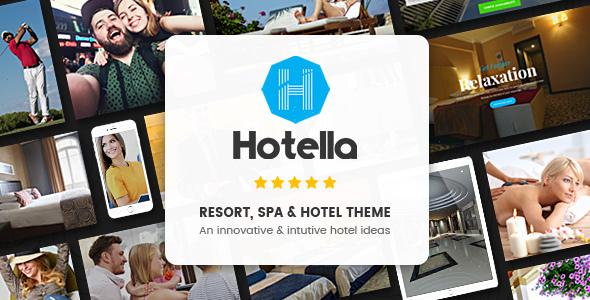 Hotella v1.2.3 — Resort & Hotel Booking WordPress Theme