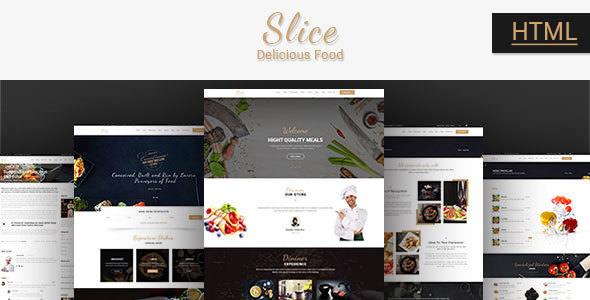 Slice Restaurant — Responsive Bootstrap Template