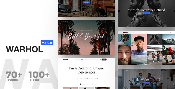 Warhol v1.0 — Responsive Multipurpose Theme for Creatives