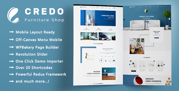 Credo v1.1.4 — Minimalist Furniture Responsive WooCommerce Theme