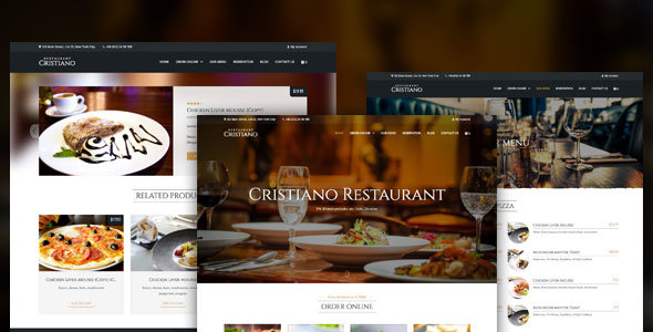 Cristiano Restaurant v3.3.2 — Cafe & Restaurant Theme