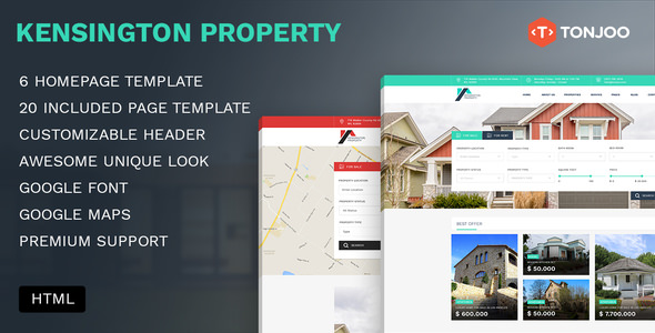 Kensington Property — Agency and Single property HTML Template