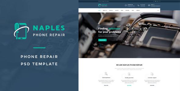 Naples v1.0 — Phone Repair PSD Template