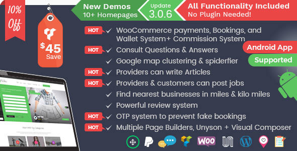 Listingo v3.0.6 — Service Providers, Business Finder and Directory