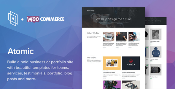 Atomic v2.2.6 — Bold Business and Portfolio WordPress Theme