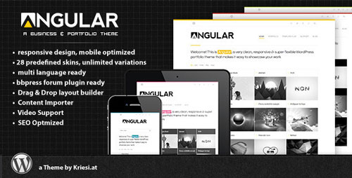 Angular v4.1 — Responsive WordPress Portfolio