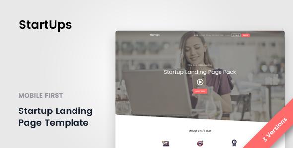 StartUps v1.0 — Startup Landing Page