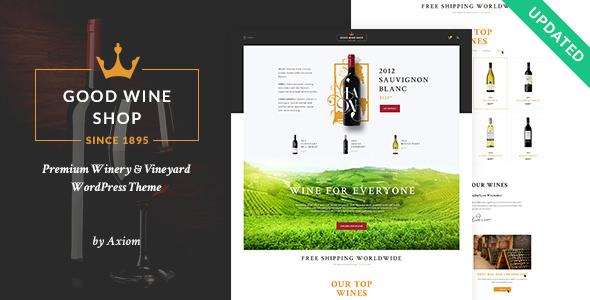 Good Wine v1.1 — Wine House, Winery & Wine Shop