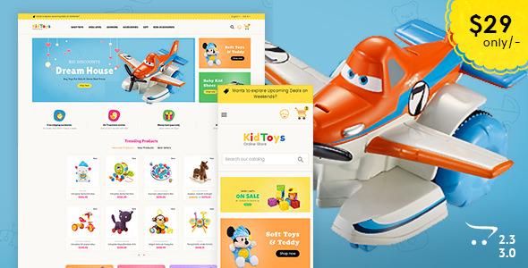 Kid Toys — Opencart 3 Multi-Purpose Responsive Theme