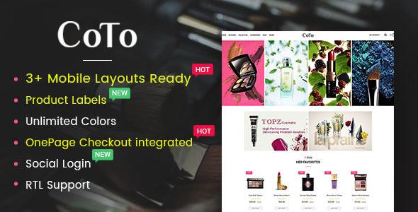 Coto — Beauty & Spa Store OpenCart 2.3 Theme