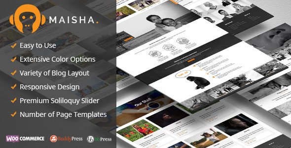 Maisha v1.6.9 — Charity/Non-Profit WordPress Theme