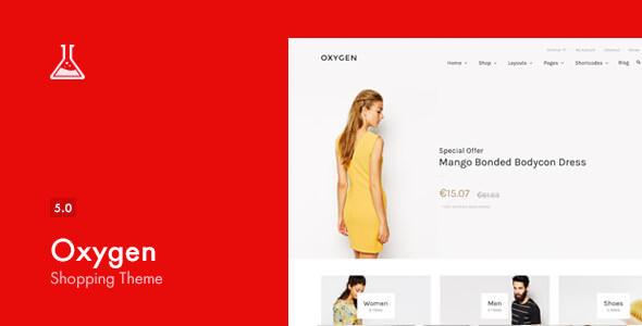 Oxygen v5.0 — WooCommerce WordPress Theme