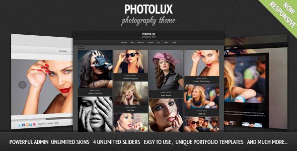 Photolux v2.3.8 — Photography Portfolio WordPress Theme
