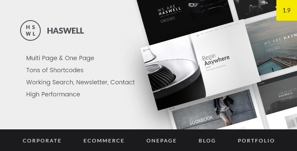 Haswell v1.9.2 — Multipurpose One & Multi Page Template