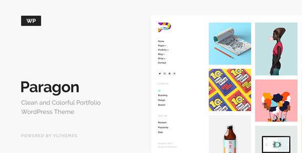 Paragon v1.6 — Colorful Portfolio for Freelancers & Agencies