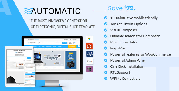 Automatic v1.8 — WooCommerce Theme for Electronic