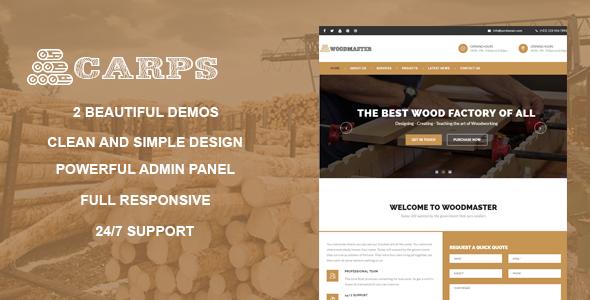 Carps v1.1 — Wood Carpentry WordPress Theme