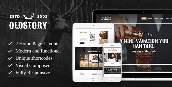 OldStory v1.7 — Whisky Bar | Pub | Restaurant WP Theme
