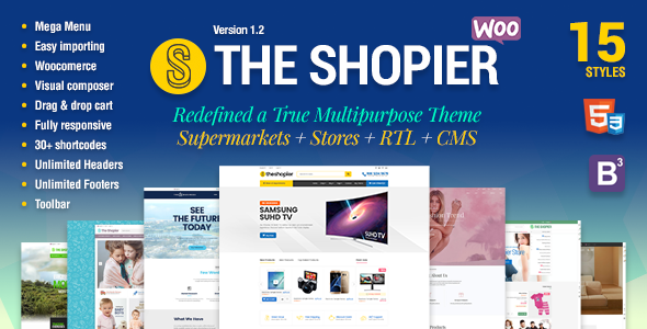 Shopier v1.4.5 — Responsive Multipurpose WooCommerce Theme