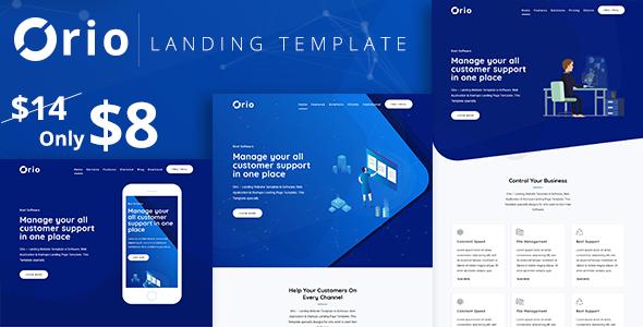 Orio — Landing Template