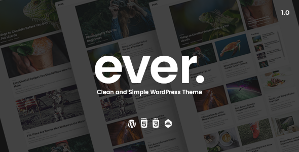 Ever v1.2.2 — Clean and Simple WordPress Theme